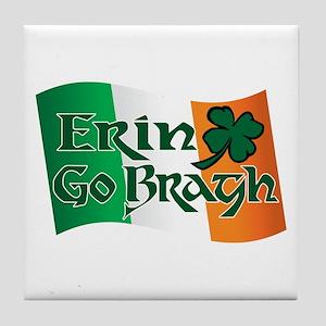 Erin Go Bragh v13 Tile Coaster
