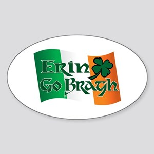 Erin Go Bragh v13 Oval Sticker
