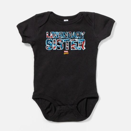 Captain America Sister Baby Bodysuit