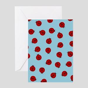 Cute Ladybug Pattern Greeting Cards