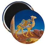 """Bokhara Takes A Ride"" camel Magnet"