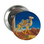 """Bokhara takes a Ride"" camel 2.25"" Button"