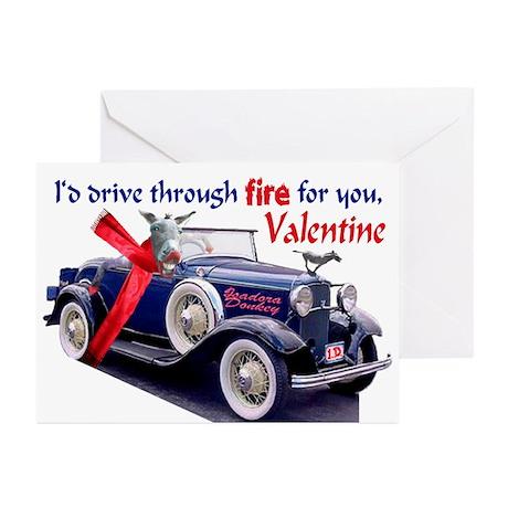 ISADORA DONKEY VALENTINE Greeting Cards (Pk of 10)