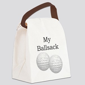 Golf Ball Sack - Gifts for Golfer Canvas Lunch Bag