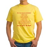 25 ways to say I love you Yellow T-Shirt