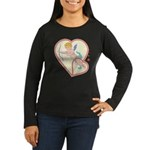 Cupid Love Women's Long Sleeve Dark T-Shirt