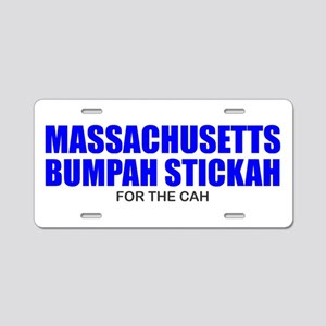 Bumpah Stickah for the Cah Aluminum License Plate