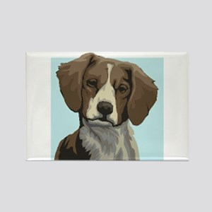 Brittany dog Rectangle Magnet