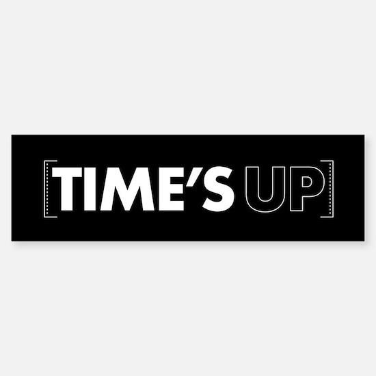 Times Up Sticker (Bumper)