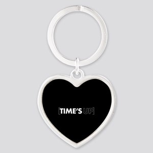 Times Up Heart Keychain