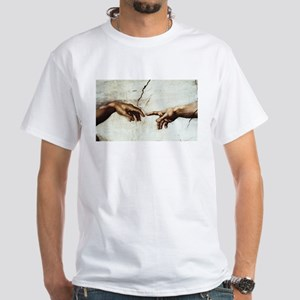 Creation of Man White T-Shirt