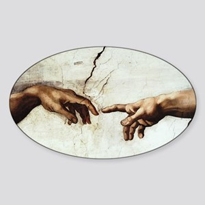 Creation of Man Oval Sticker