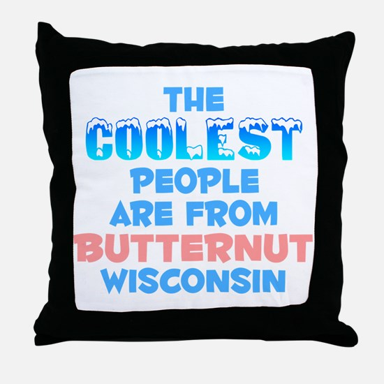 Coolest: Butternut, WI Throw Pillow