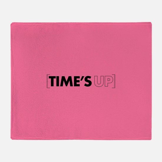 Times Up Throw Blanket