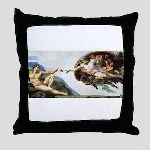 Creation of Adam Throw Pillow