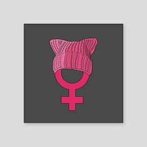 "resist persist pink Square Sticker 3"" x 3"""