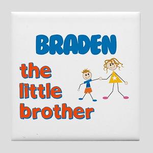 Braden - The Little Brother Tile Coaster