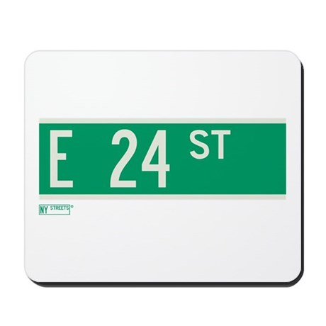 24th Street in NY Mousepad