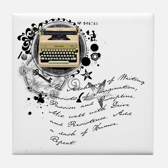 The Alchemy of Writing Tile Coaster