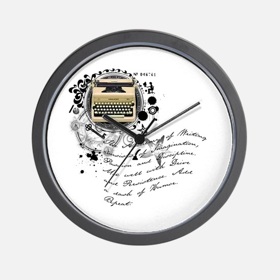 The Alchemy of Writing Wall Clock