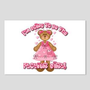 Teddy Bear Flower Girl Postcards (Package of 8)