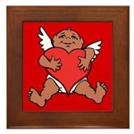Cute Valentine's Cupid Framed Tile