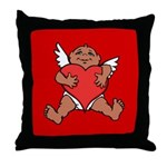 Cute Valentine's Cupid Throw Pillow