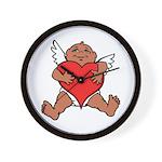Cute Valentine's Cupid Wall Clock