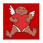 Cute Valentine's Cupid Tile Coaster