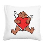 Cute Valentine's Cupid Square Canvas Pillow