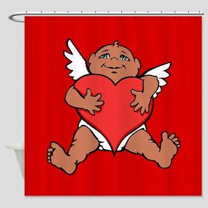 Cute Valentine's Cupid Shower Curtain