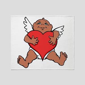 Cute Valentine's Cupid Throw Blanket