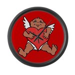 Cute Valentine's Cupid Large Wall Clock