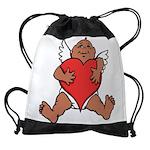 Cute Valentine's Cupid Drawstring Bag