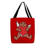 Cute Valentine's Cupid Polyester Tote Bag