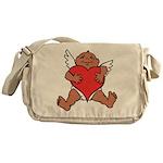 Cute Valentine's Cupid Messenger Bag