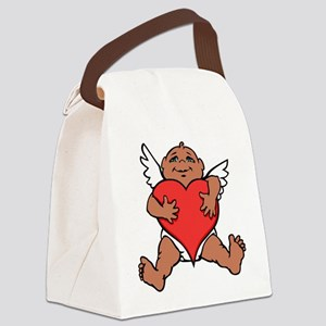 Cute Valentine's Cupid Canvas Lunch Bag