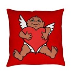 Cute Valentine's Cupid Everyday Pillow