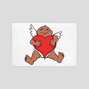 Cute Valentine's Cupid 4' x 6' Rug