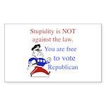 you are free 2 vote republica Sticker (Rectangular