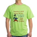 Your vote counts? Green T-Shirt
