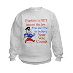 Your vote counts? Kids Sweatshirt