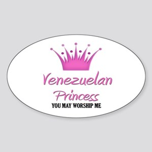 Venezuelan Princess Oval Sticker