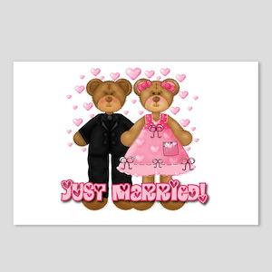 Just Married Bears Postcards (Package of 8)