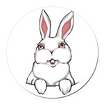 Easter Bunny Cute Pocket Rabbit Round Car Magnet