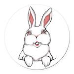 Pocket Easter Bunny Round Car Magnet