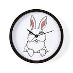 Pocket Easter Bunny Wall Clock