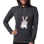 Pocket Easter Bunny Womens Hooded Shirt