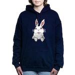 Pocket Easter Bunny Women's Hooded Sweatshirt