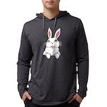 Pocket Easter Bunny Mens Hooded Shirt